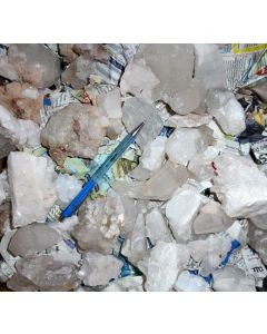 Bergkristall X/(X) ohne Matrix, Himalaya-Quarz, Himalaya, Indien, 1 kg