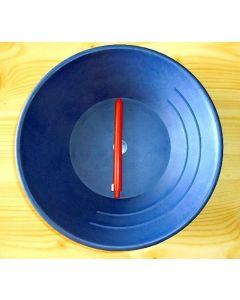 Goldwaschpfanne, 25 cm, Hartplastik, blau, schwer