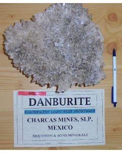 Danburit xx; Mina La Aurora, Charcas, San Luis Potosi, Mexico; GS
