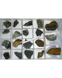 Vanadate (Rossit, Pascoit, Corvusit, + viele seltene Arten!), Sunday # 2 Mine, CO, USA, 1 Steige