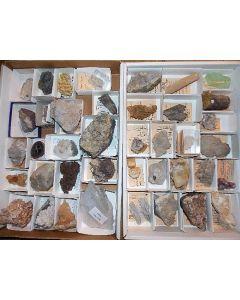 Calcit Sammlung, antike Stufen, 40 Stück