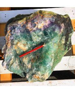 Fluorit (bunt, gebändert, Schleifware), Mexiko, 1 Stück mit 80 kg