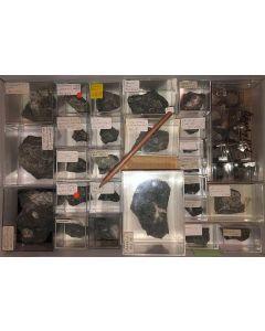 Aris, Windhoek, Namibia; kleine Sammlung sicher bestimmter Stufen; 1 Partie mit 29 Stück