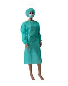 Schutzanzug, medizinisch (OP-Anzug) als Corona-Schutzausrüstung