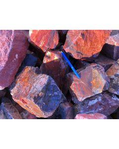 Jaspis, rot, Namibia, 100 kg