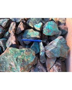 Chrysokoll mit Matrix, Rössingberge, Swakopmund, Namibia, 1 kg