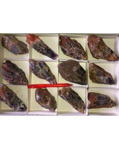 Amethyst (Chevron mit Kristallflächen!), Sambia, 1 Steige