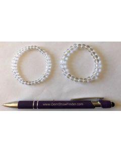 Armband für Kinder, Bergkristall, 6 mm Kugeln, 1 Stück