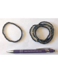 Armband, Goldobsidian, 4 mm Kugeln, 1 Stück