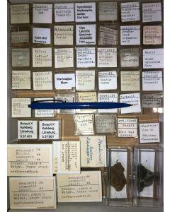 Gemischte Mineralien aus Deutschland, D., 1 Partie mit 48 Stück.