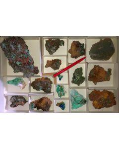 Gemischte Mineralien sehr guter Qualität, Laurion, GR, 1 Steige (#7)