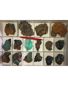 Gemischte Mineralien sehr guter Qualität, Laurion, GR, 1 Steige (#8)