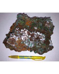 Smithsonit xx (grün!), Aurichalcit xx; Barbara Mine, Laurion, Griechenland; GS
