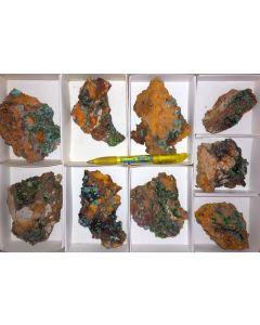 Smithsonit xx (grün!), Aurichalcit xx; Barbara Mine, Laurion, Griechenland, 1 Steige (TOP!)
