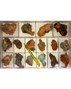 Azurit/Malachit Pseudomorphosen xx, Hilarion Mine, Laurion, Griechenland, 1 Steige