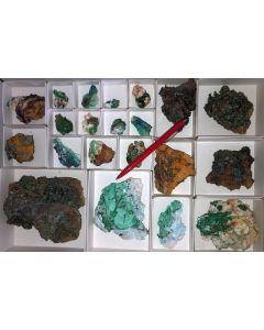 Gemischte, bunte Kristallstufen aus Laurion, Griechenland, 10 Steigen