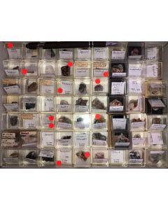 Gemischte Mineralien der Grube Clara, Schwarzwald, Deutschland, 1 Partie mit 63 Stück.