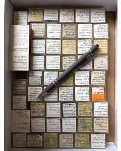 Gemischte Mineralien aus Hessen, Deutschland, 1 Partie mit 52 Stück.