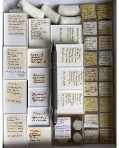 Gemischte Mineralien aus Thüringen, Deutschland, 1 Partie mit 33 Stück.