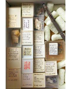 Gemischte Mineralien aus Deutschland, 1 Partie mit 39 Stück.