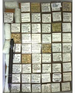 Gemischte Mineralien aus dem Sauerland, Deutschland, 1 Partie mit 53 Stück.