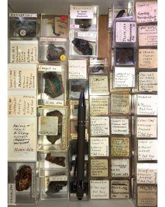 Gemischte Mineralien aus dem Westerwald, Deutschland, 1 Partie mit 59 Stück.