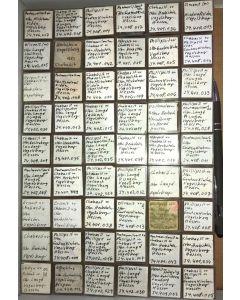 Gemischte Mineralien vom Vogelsberg, Deutschland, 1 Partie mit 54 Stück.