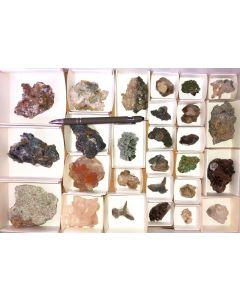 Tsumeb Mineralien aus alter Sammlung, 1 Steige mit 27 Stück