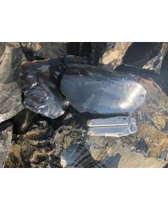 Obsidian (schwarz, transparent!) Armenien, 100 kg