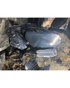 Obsidian (schwarz, transparent!) Armenien, 1 kg