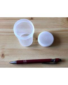 Schraubdeckeldose, Zylinderdose, 8,5 cm hoch, Durchmesser 4,2 cm, transparent, 1 Stück