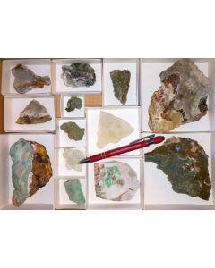 Smithsonit xx (türkisfarben und weiß), Barbara Mine, Laurion, Griechenland, 1 Steige