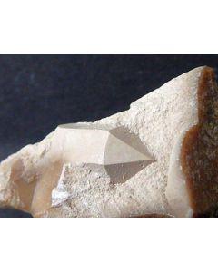 Quartz pseudomorph after Steatite xx; Grube Johanneszeche, Wundsiedel, Fichtelgebirge, Germany; 10 MM