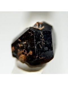 Uraninite 1.5 cm crystal. Swamp Mine, Maine, USA
