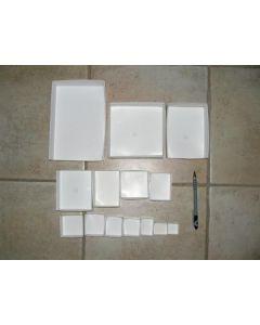 "Fold up boxes SB 18, 2.5"" x 3.5"", fit 18 per flat, 1,000 pcs."