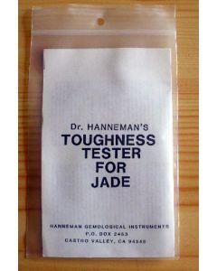 Hanneman Jade test based on hardnes
