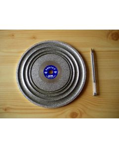 "Cabochon diamond polishing disc 8"", grain 0180"