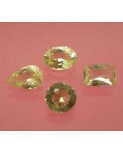 Brazilianite facetted, 4.5 mm, Brazil