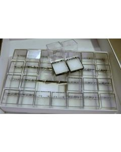Perky boxes 1 1/4 inch cube, 1 tray of 28 pieces, with styrofoam inserts