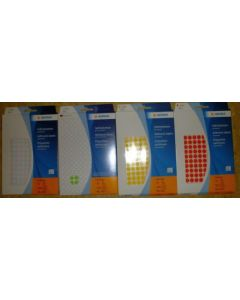 Adhesive lables (dots) white, 8 mm diameter, 1 package