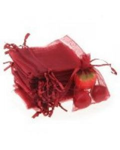 """Jewellery bags """"Organza"""" red 100 pieces"""