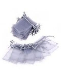 "Jewellery bags ""Organza"" grey 1 piece"