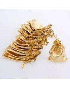 "Jewellery bags ""Organza"" golden 1 piece"