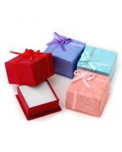 Jewellery box, pink 4x4 cm, 100 pieces