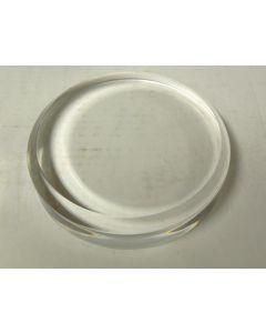 """Acrylic bases, round beveled base, fully polished, 1/4"""" bevel, 5"""" dia x 1"""" thick, pack of 20 pcs. (BR51x20)"""