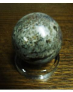 "Acrylic base, beveled, 2 x 1/2"" round, EGG/SPHERE STAND, fully polished, 1 pc. (RD51)"