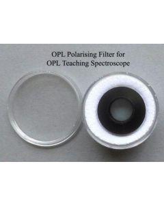 OPL teaching spectroscope polarizing eye piece filter