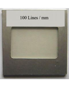 OPL diffraction grating filter with 100 lines