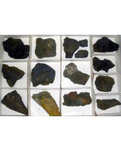 Paramontroseite + Pascoite, D-Day Mine, UT, USA, 1 flat.