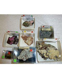 Dolomite + Cobaltian Dolomite xls, Tsumeb, Namibia, 1 lot of 7 high end specimen